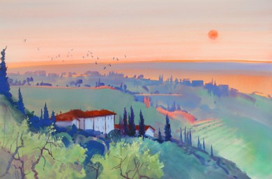 A Tuscan Evening, Brolio
