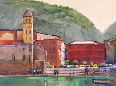 October Morning, Vernazza