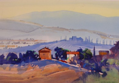 View from Bagno Vignoni, September Fields