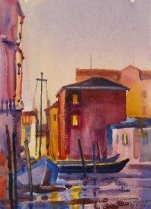 Twilight, A Canal in Chioggia