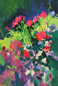 Sweet Peas & Lavatera, Kelly Castle