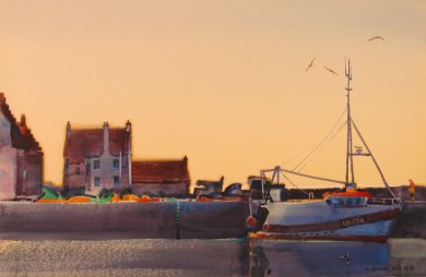 Early Morning Light, Pittenweem Harbor