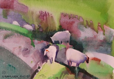 Highland Sheep Painting #1