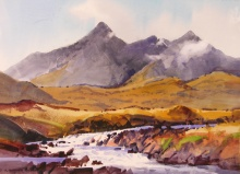 Isle of Skye, View of Cuillin Hills