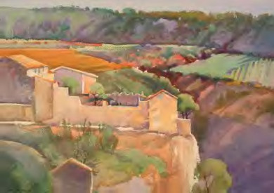 View of Minerve, France