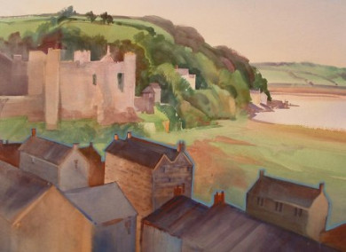 View of Laugharne, Wales