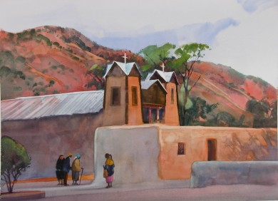 "Church at Chimayo  20"" X 29"""