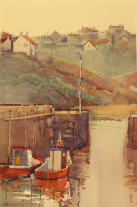 "Gray Day, Crail  28"" X 18 1/2"""