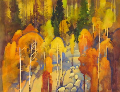 "Autumn Sheep Drive by Wolf Creek Pass  18 3/4"" X 24 1/2"""