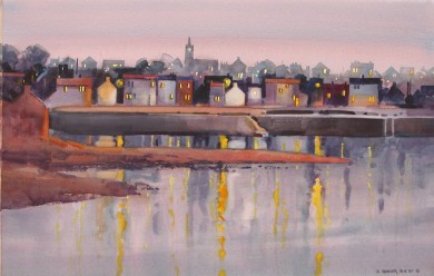 "Evening Light, Anstruther 21"" X 29"""