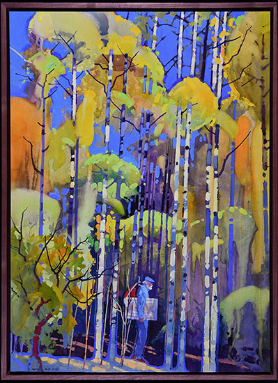 Interconnectedness, Autumn Aspen Walk by Stephen Quiller